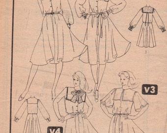 80s Dress Pattern Simplicity 5291 Size 12 Uncut