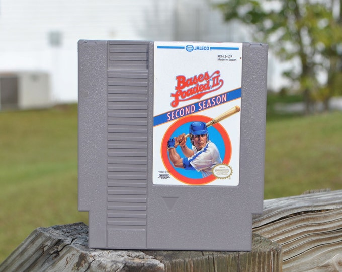 Vintage Nintendo Game Bases Loaded II: Second Season (NES) By Jaleco 8 bit 1988