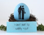 i can't wait to marry you. wedding day gift for bride groom.