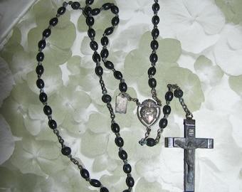 Destash Vintage Black Rosary Beads