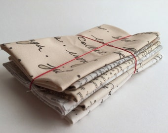 Fat Eighth Text Fabric Bundle