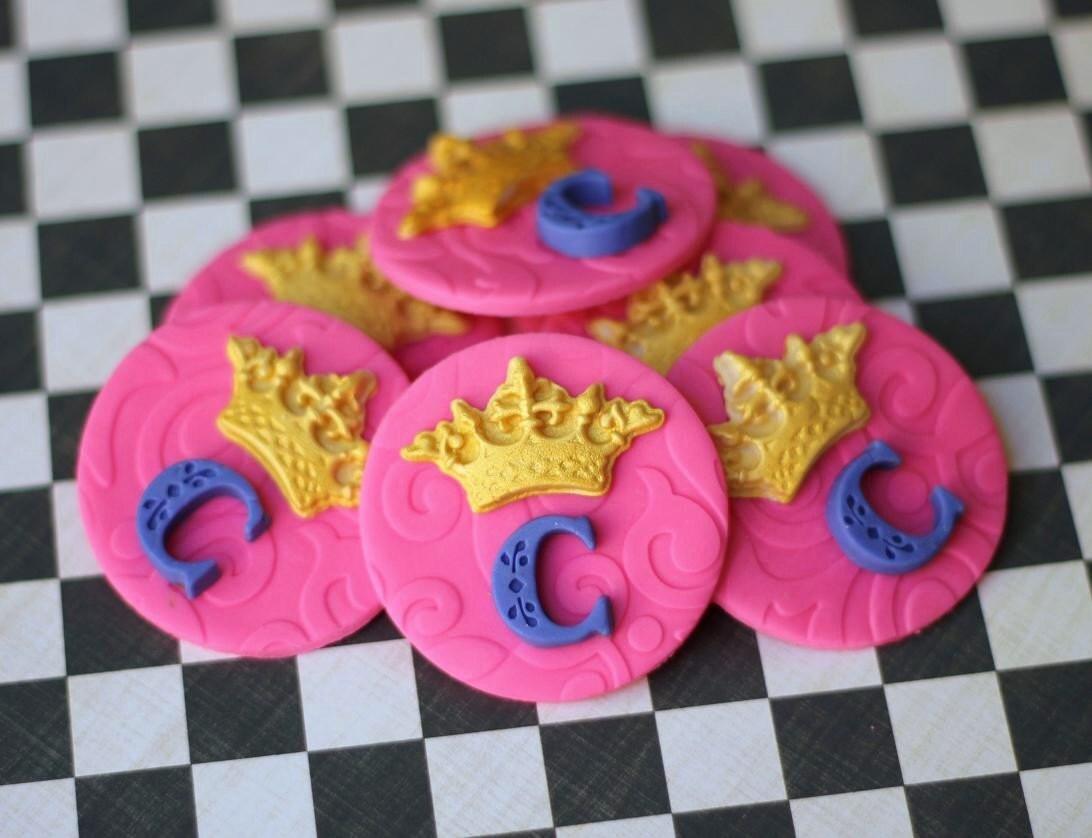 Princess Crown Fondant Cupcake Toppers Prince crown fondant