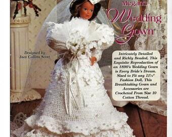 Ladies of Fashion Megan's Wedding Gown  Crochet Pattern  The Needlecraft Shop 952502