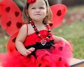 "Ladybug Halloween Costume - ""Tutu Cute"" Ladybug Costume - Girl Toddler Baby Infant Newborn Halloween Costume"