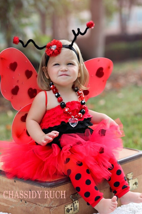 Ladybug Halloween Costume -  Tutu Cute  Ladybug Costume - Girl Toddler Baby Infant Newborn  sc 1 st  Wall Decal & Cute Baby Girl Halloween Costumes - bunny easter costume or ...