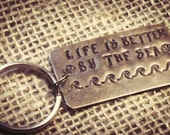 Life is better by the sea keychain ocean keychain beach lover keychain