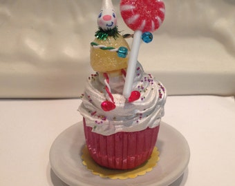 Yellow Gumdrop Pixie Cupcake -Perfect Christmas Gift or Birthday Gift