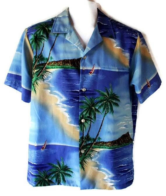 70s Hawaiian Shirt / Beach /  Resort / Retro / Tiki / Kitch / Shoreline Hawaii