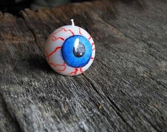 Halloween Decor Eye Ball Candle - Creepy Decor - Funny Eyes Staring At You! Halloween Candle
