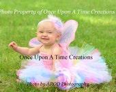 Ready to Ship - Rainbow Fairy Tutu Dress - Newborn 3 6 9 12 18 24 Months ...Birthday, Photo Prop, Dress Up, Costume - Pretty Pink Butterfly