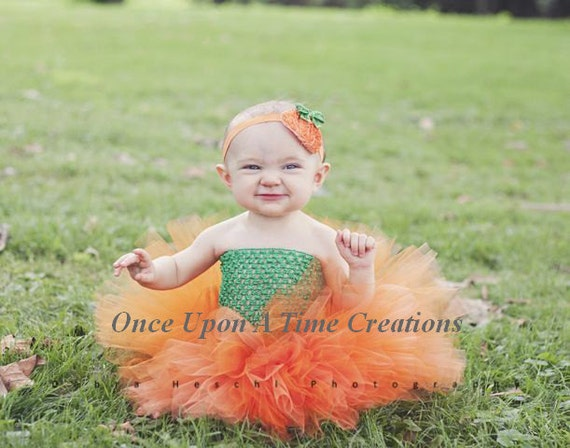 Little Pumpkin Tutu or Dress Newborn 3 6 9 12 18 24 Months