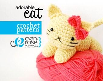 Instant Download - Adorable Cat - amigurumi CROCHET PATTERN