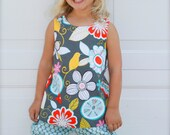 baby toddler GIRLS SWING TOP - perfect year round - many sizes