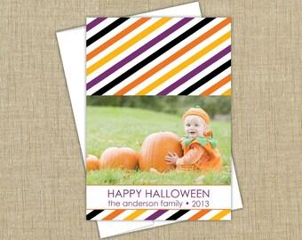 Halloween Photo Card. colorful happy halloween