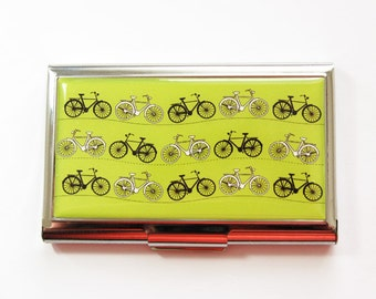Bicycle Card Case, Business Card Case, Cycling Card Case, business card holder, Cyclist, Bicycle, Cycling, You Pick Color (3713)