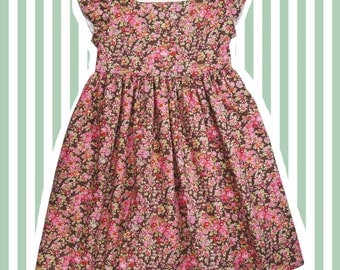Girl's Liberty Print Dress for Baby to 10 years