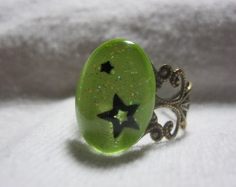 Baby I'm A Lime Green Star Ring, Saint Pattys Day