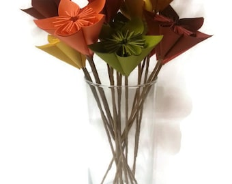 """Bouquet """"The Harvest"""" / Fall / Autumn / Table Decor / Gift Origami Paper Flowers"""