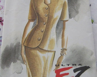 Vogue 8963 Pattern 1990's Misses' top and skirt Pattern Size 6-10  Vintage