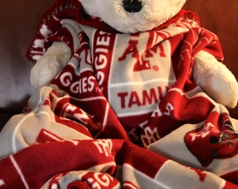 Texas A&M Aggies NCAA Football Block Fleece Sports Baby Blanket