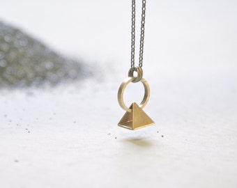 the Pyramid Drift necklace