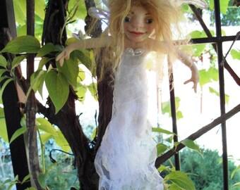 Garden Fairy Chrystal HANDMADE Sprite Faerie Fairy Doll