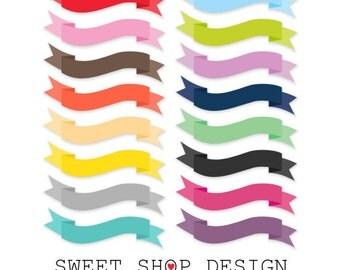 Banner Clip Art, Ribbon Clip Art, Border Clip Art, Digital Clip Art, N04LPB, Instant Download