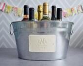 Personalized Wedding Gift - Large Beverage Tub