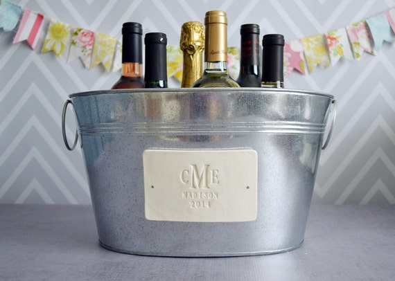 Personalized Wedding Gift - Large Beverage Tub