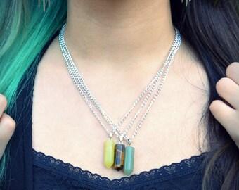 Hexagonal Stone Necklaces