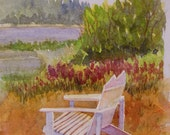 Tranquil Moments 7x5 image Original Watercolor Painting