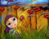 "Title: ""I Will Never Leave You"". FREE SHIPPING Inspirational and colorful Giclee Art Print."