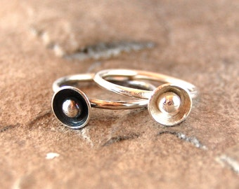 Circles and Dots Sterling Silver Stacking Ring
