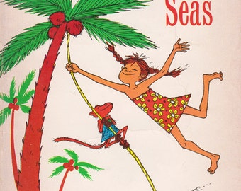 Pippi in the South Seas by Astrid Lindgren, illustrated by Louis S. Glanzman, cover by Trina Schart