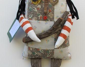 Primitive Rag Doll 'Chuck the Woodsman'