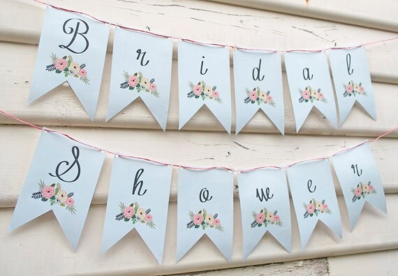 Luscious image pertaining to free printable bridal shower banner