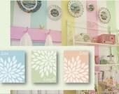 Live Laugh Love - set of THREE art prints, matches Shabby Chic pastel bedroom decor, Shabby Chic wall art, matches pastel room décor