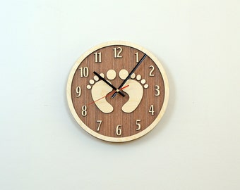 12'' Wooden Wall Clock / Home Decor / Housewares / Clock