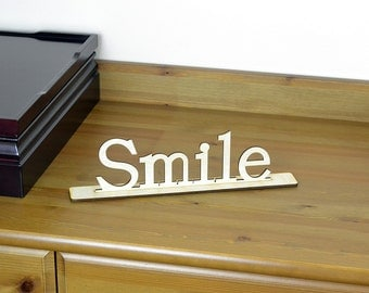 Wood Word Sign / Freestanding Home Decor / Housewarewes / Wedding / Wooden Letters