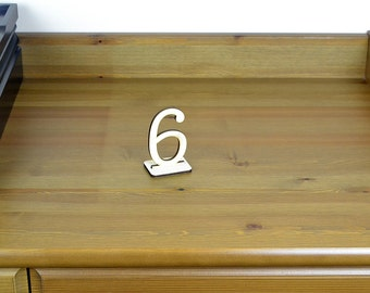 Wood Wedding Table Number Sign / Freestanding Home Decor / Housewarewes / Wood Numbers