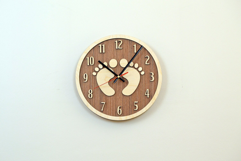 12'' Wooden Wall Clock / Home Decor / Housewares