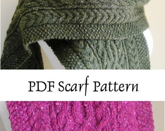 Aran Infinity Scarf Knitting Pattern : Popular items for aran scarf on Etsy