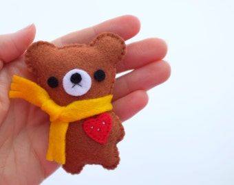 Kawaii teddybear pin brooch