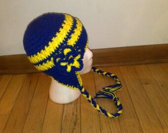 University of Michigan Hat, Michigan Hat, Crochet Baby Hat, Crochet Kids Hat, Crochet Adult Hat Cap, Crochet Adult Hat, Newborn Hat