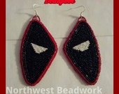 Deadpool Fanart Earrings Beaded