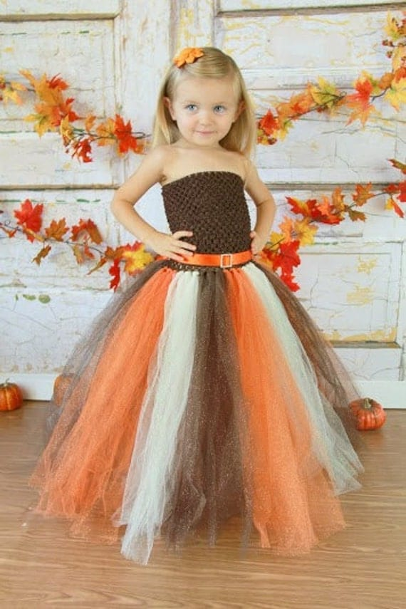 Newborn - Size 12 Sparkly Glitter Fall/Autumn Tutu Dress