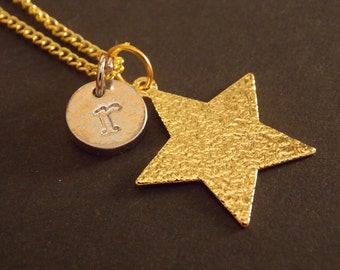 Personalized Charm Necklace- Gold Star