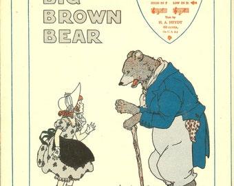 Vintage 1948 The Big Brown Bear Sheet Music