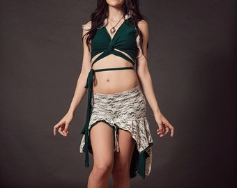 Wrap Top - Harmonic Threads, Crop Top, Choli Top, Bellydance Top