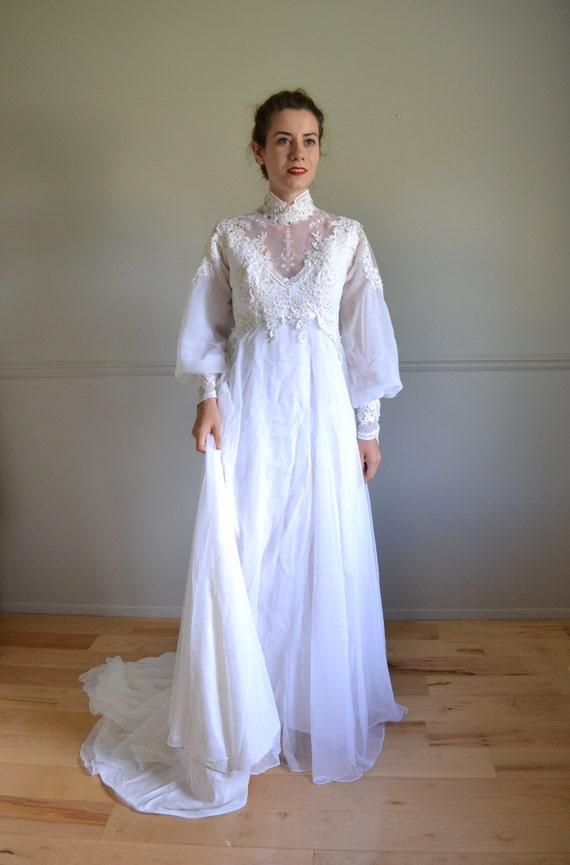 70s wedding dress 1970s wedding dress london for Best etsy wedding dress shops